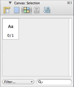 A screenshot of the Omnigraffle canvas selection pane