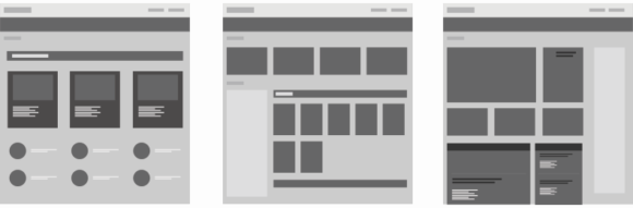 wireframes, web layouts, content site
