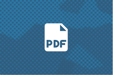 White icon representing a PDF against a blue background