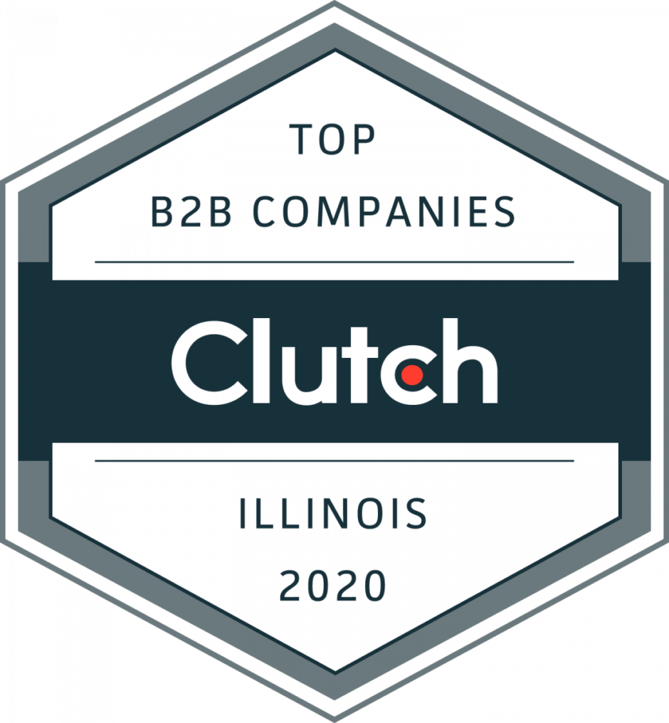 Clutch award for the top B2B companies in Illinois 2020