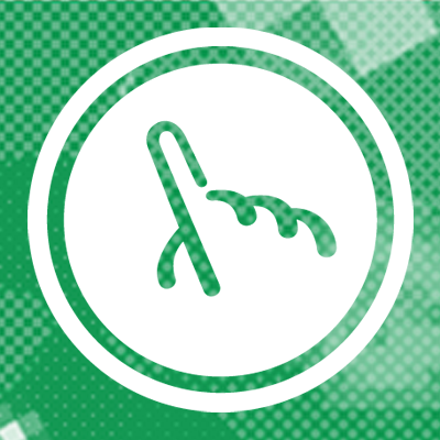 White Fuzzy Math logo against green Fuzzy Math pixel background
