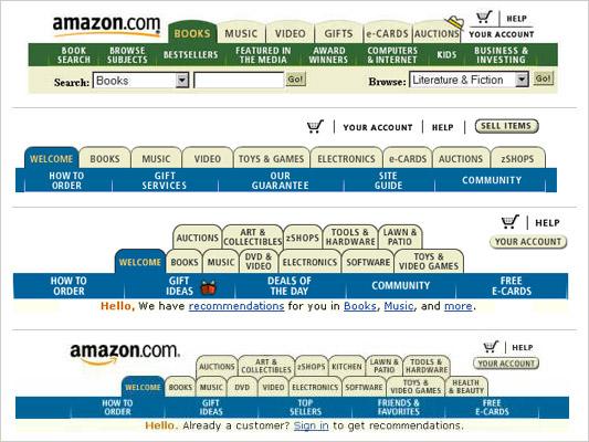 Amazon tabs