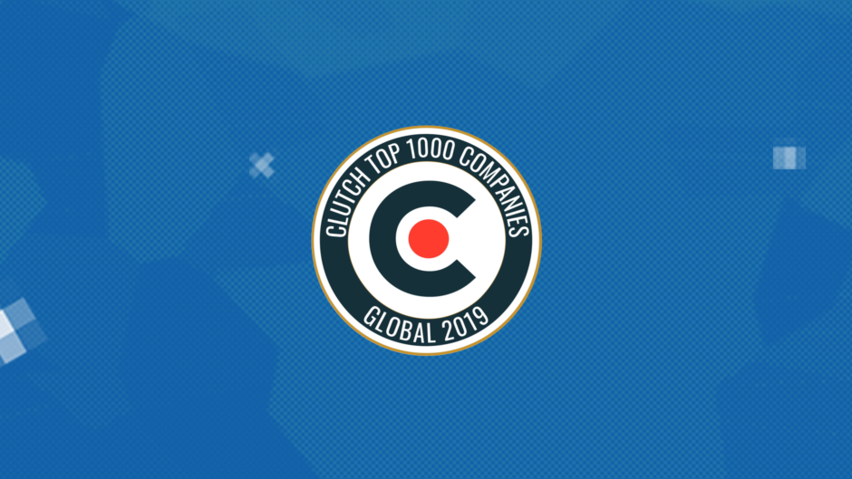 Clutch award for the top 1000 best B2B service providers around the world