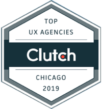 Clutch award for the #1 UX design agency in Chicago 2019