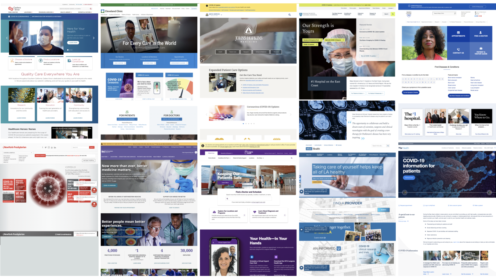 Hospital Home Pages