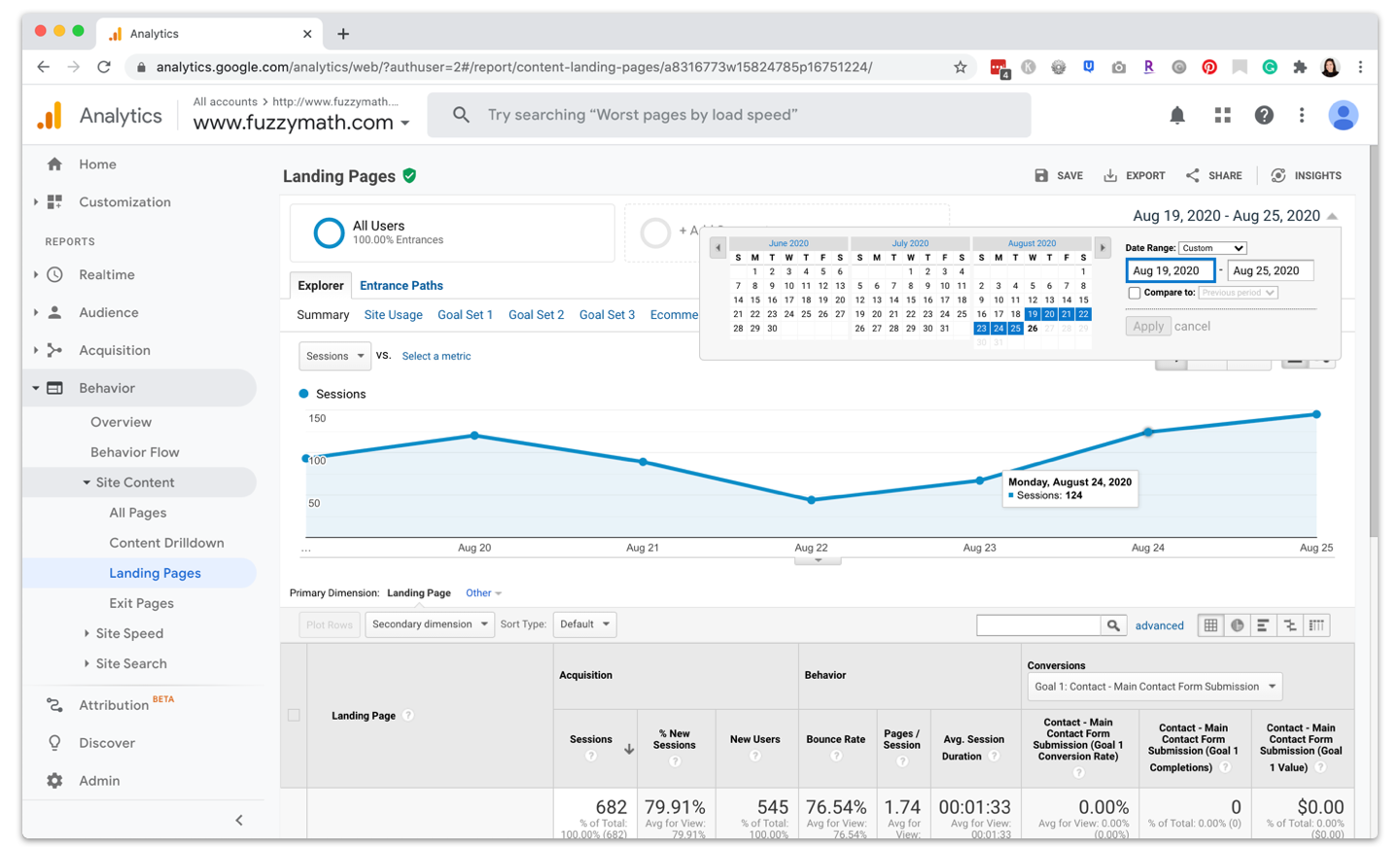 UX research tools - Google Analytics