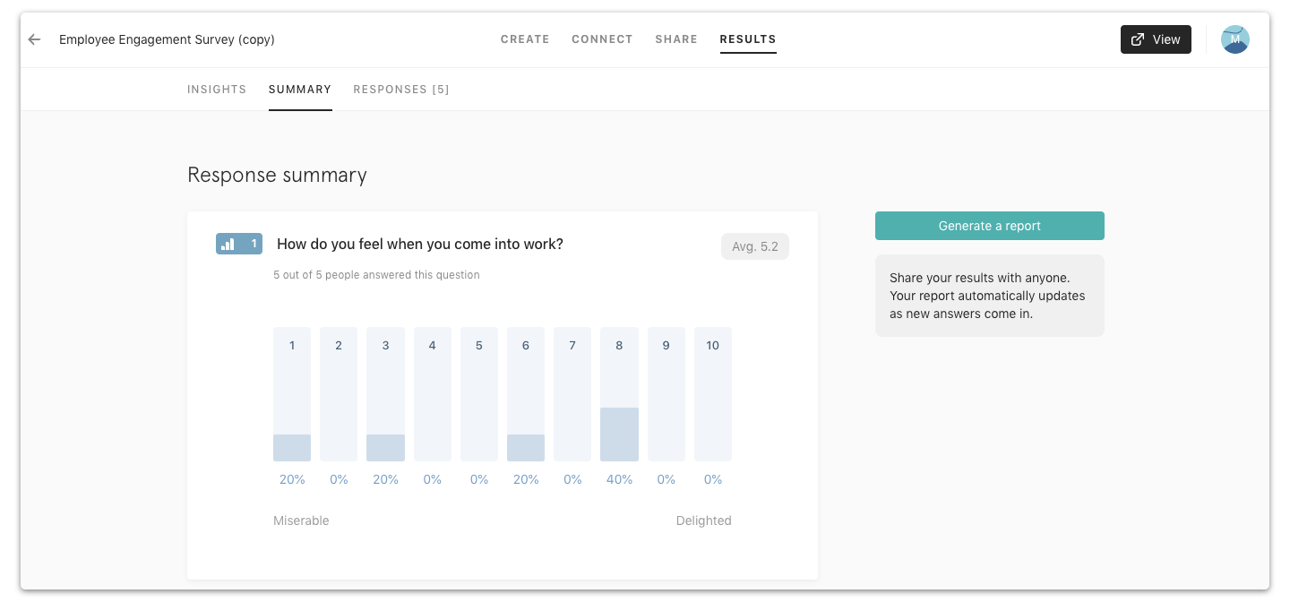 Tools for UX surveys - Typeform