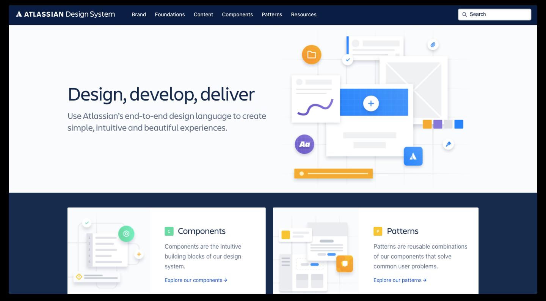 UX Design System - Atlassian screenshot