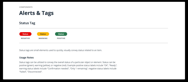 UX design system alerts