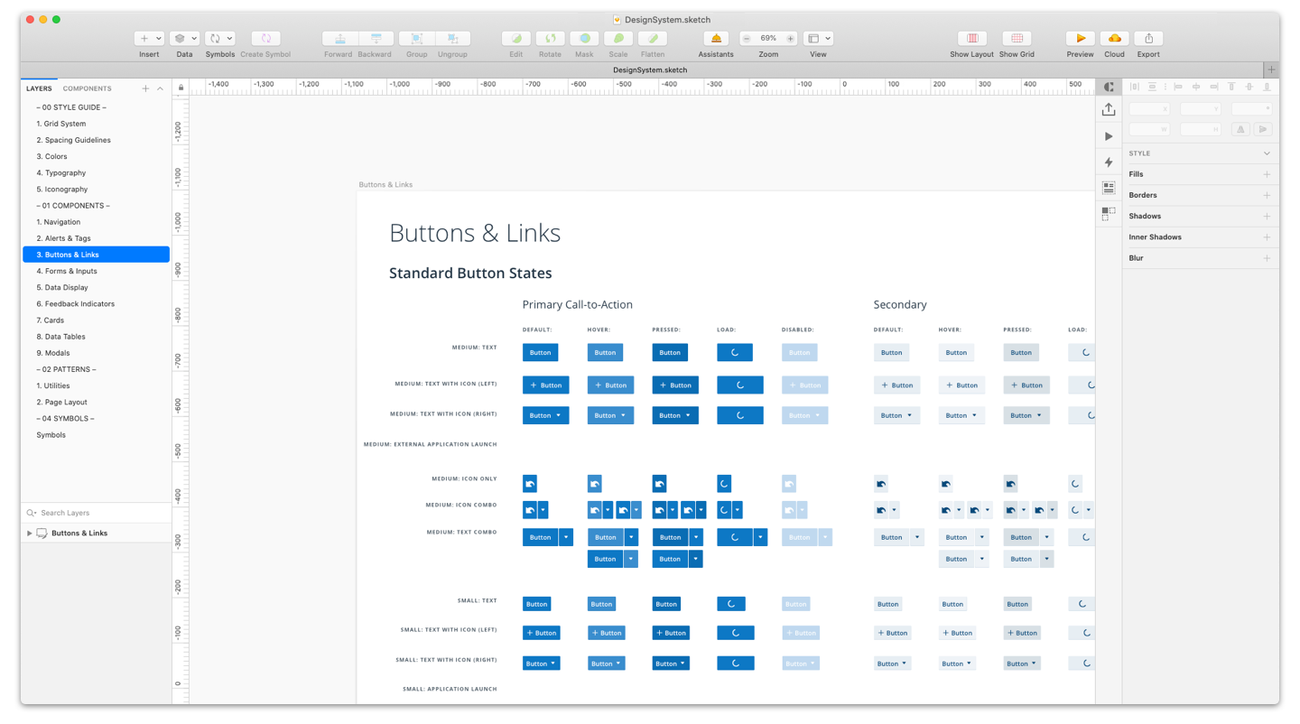 UX design system in the works screenshot