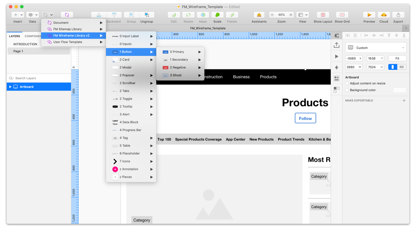 Wireframes in Sketch - Use Sketch for UX Design: The Ultimate Guide