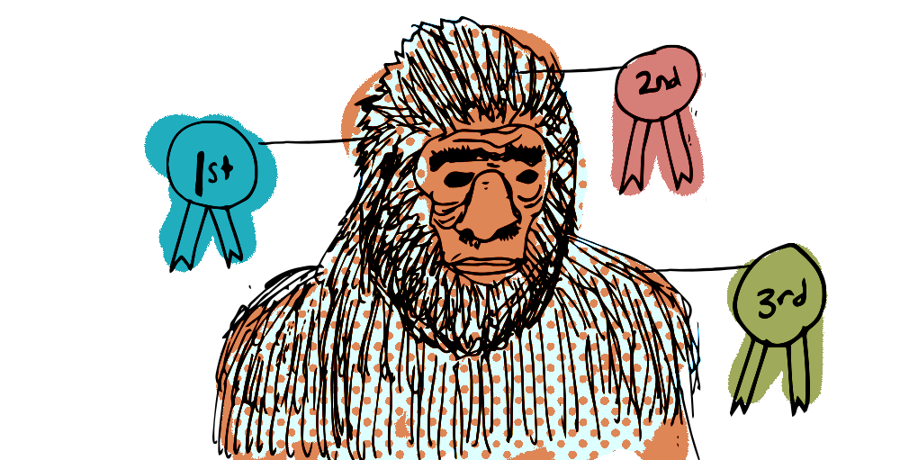 Top 3 SaaS UX Best Practices blog post feature image illustration of SaaSquatch and award ribbons.